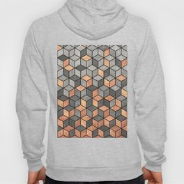 Concrete and Copper Cubes Hoody