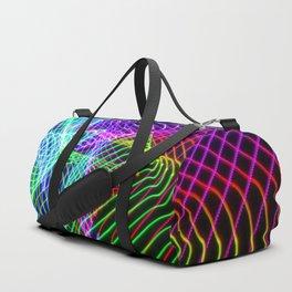 Triangle vortex light painting Duffle Bag