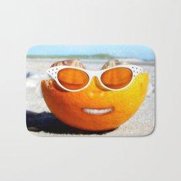 Beached Orange Bath Mat