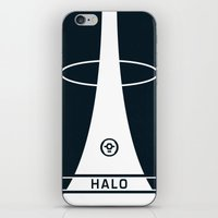 halo iPhone & iPod Skins featuring HALO by Prodimator