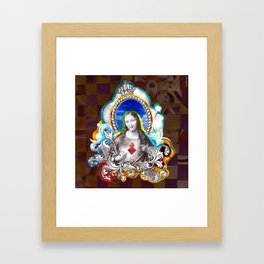 Sagrado Coração de Jesus (Sacred Heart) #1 Framed Art Print