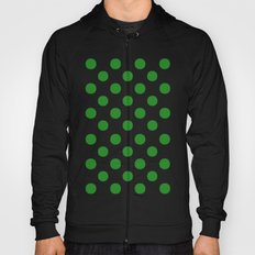 Polka Dots (Forest Green/White) Hoody