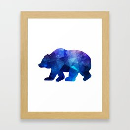 BEAR POLYGONAL SPACE Framed Art Print