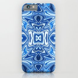 65 - Psychedelic Blues iPhone Case
