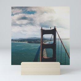 No Fear Above Golden Gate Bridge Mini Art Print