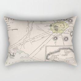 Ancient Athens Greece Vintage Map (1901) Rectangular Pillow