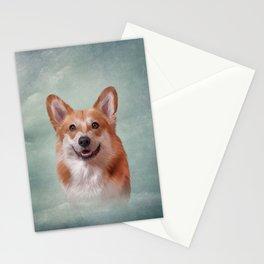 Drawing Dog breed Welsh Corgi portrait Stationery Cards
