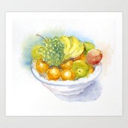Fruitbowl Art Print