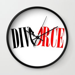 Divorce Wall Clock