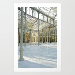 White Cristal Palace Art Print
