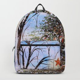 Woodland Winter Christmas Tree Watercolor Backpack