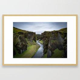 The Fjaðrárgljúfur canyon in Iceland Framed Art Print