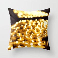 Prayer Candles in Church, Israel  Throw Pillow
