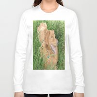 conan Long Sleeve T-shirts featuring Golden Retriever Conan by Yvonne Carter