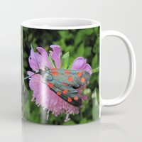 moth Mugs featuring moth by giol's