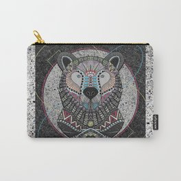 Neon Tribal Bear Carry-All Pouch