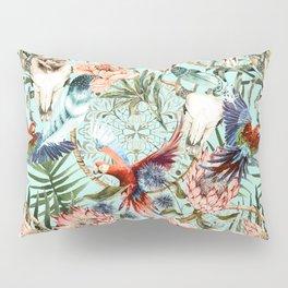 Pattern tropical boho skull Pillow Sham