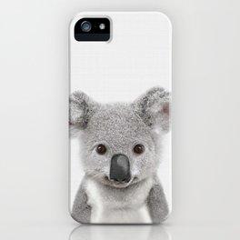 Koala Print, Australian Baby Animal, Nursery Wall Art, Peekaboo Animals, Koala iPhone Case
