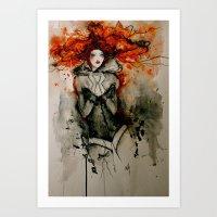 bastille Art Prints featuring Bastille by Stephanie Noblet Miranda