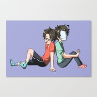 cryaotic Canvas Prints featuring Cry and Russ by spekterty