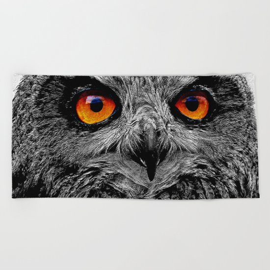 YOU'RE THE ORANGE OF MY EYES Beach Towel