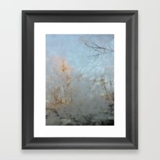 Frost Touch Framed Art Print