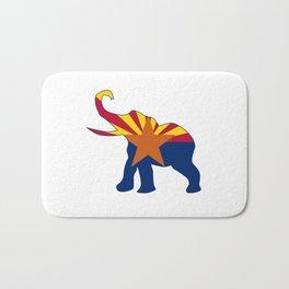 Arizona Republican Elephant Flag Bath Mat