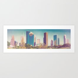 Downtown Houston Panorama Art Print