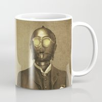 star Mugs featuring Baron Von Three PO  by Terry Fan