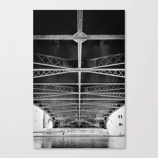 Chicago Riverwalk - Underneath Wabash Avenue Bridge Canvas Print