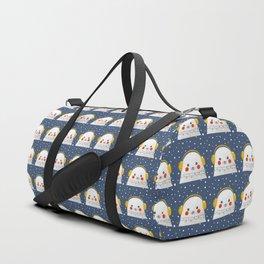 Christmas Baby Seal with fairy lights Duffle Bag
