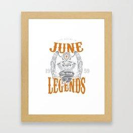 June The Birth Of Legends Framed Art Print