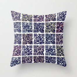 QR Codes to Playlists Throw Pillow