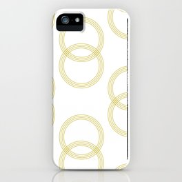 Simply Infinity Link Mod Yellow and White iPhone Case