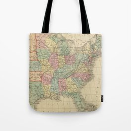Vintage Map of The United States (1864) Tote Bag