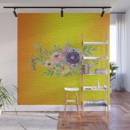 Flowers Gradient Wall Mural