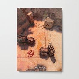 Counter Strike mirage A Metal Print