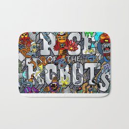 Doodle Robots (Hidden Doodles) Bath Mat