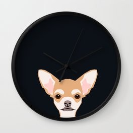 Misha - Chihuahua art print phone case gift for dog owner and dog people Wall Clock