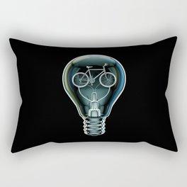 Dark Bicycle Bulb Rectangular Pillow