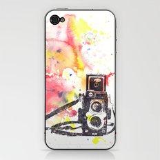 Vintage Rolleiflex Camera Painting iPhone & iPod Skin