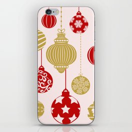 Holly Jolly Festive Balls iPhone Skin