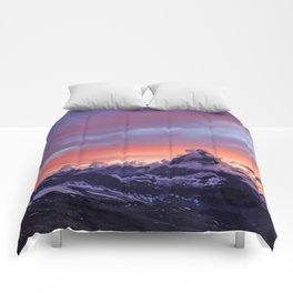 Himalayas Fishtail Mountain Sunset Comforters