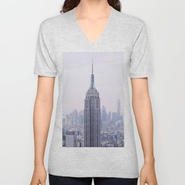 Empire State Building – New York City Unisex V-Neck