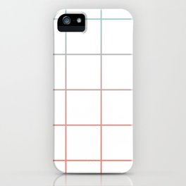 Large Checks Peach Echo & Limpet Shell Gradient Pattern iPhone Case