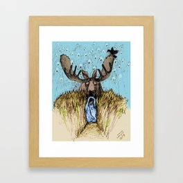 Moose Guide Framed Art Print
