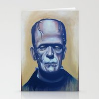 frankenstein Stationery Cards featuring frankenstein by FlacoGarcia