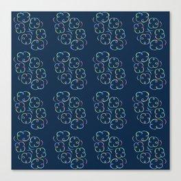 Looking Through My Rainbow Colored Swirls-Blue Canvas Print
