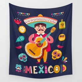 Man with Guitar – Mexico Wall Tapestry