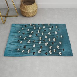 stormy little flowers Rug